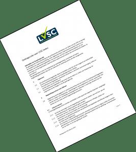 Afbeelding van de voorpagina van de gedragscode van de LVSC.