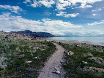 Foto van wandelpad bij Salt Lake City. De foto is gemaakt door wandelcoach Claudia van Leent.